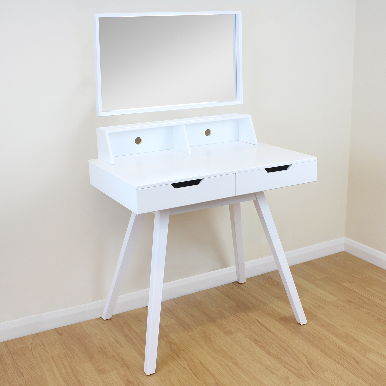 2 Drawer White Vanity/Makeup/Dressing Table Removable