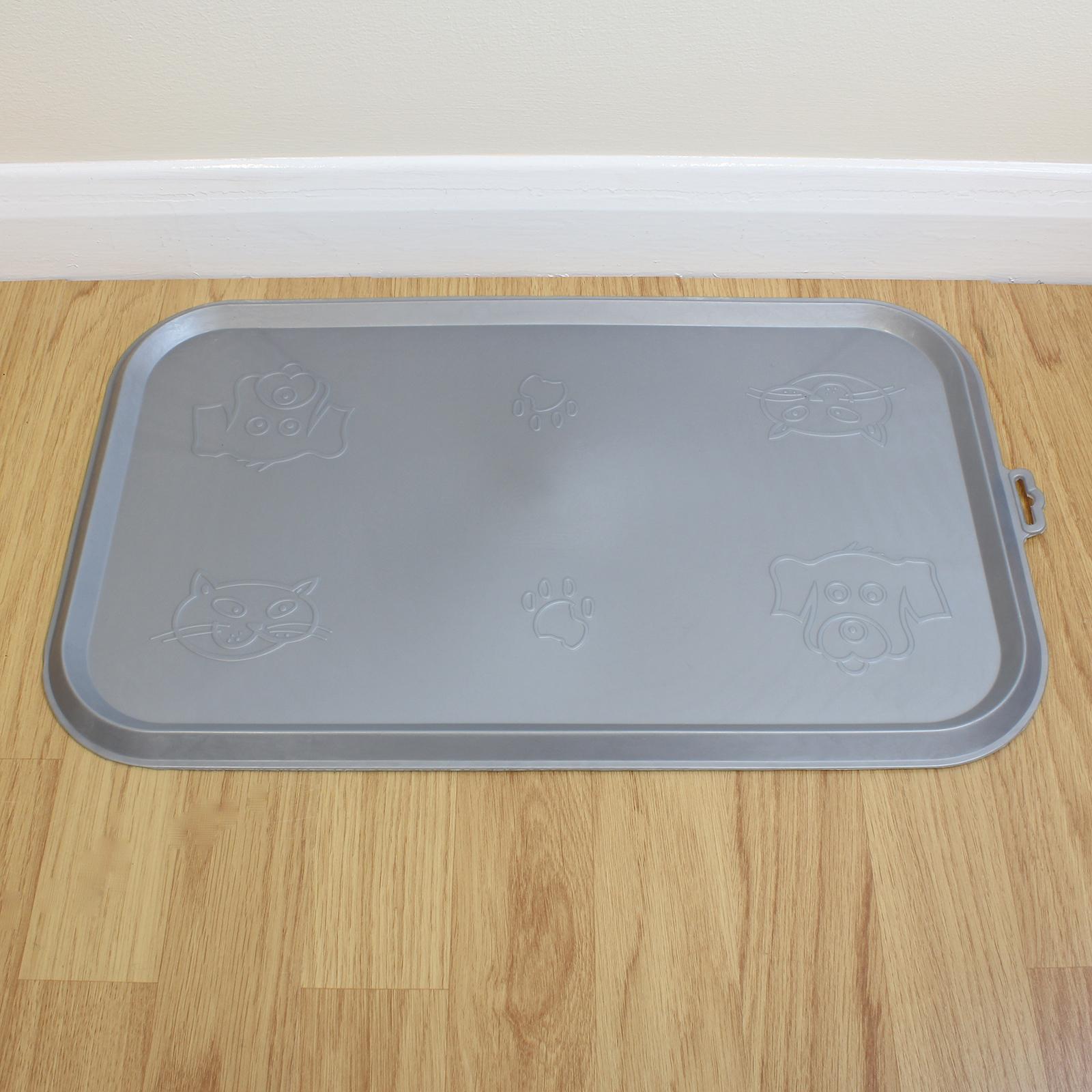 Grey Place Mat for Pet Food Bowl & Dish Cat/Kitten/Dog ... - photo#29