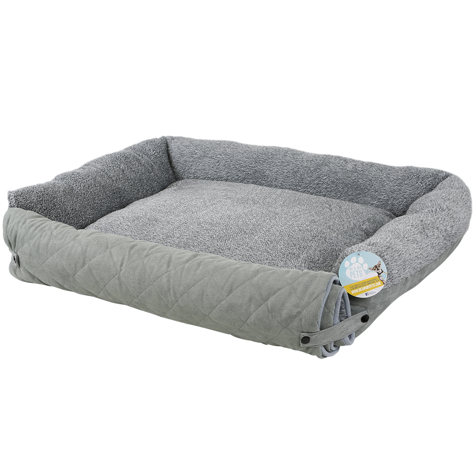 me my pet quilted grey fleece fold out cat dog bed sofa couch chair protector ebay. Black Bedroom Furniture Sets. Home Design Ideas