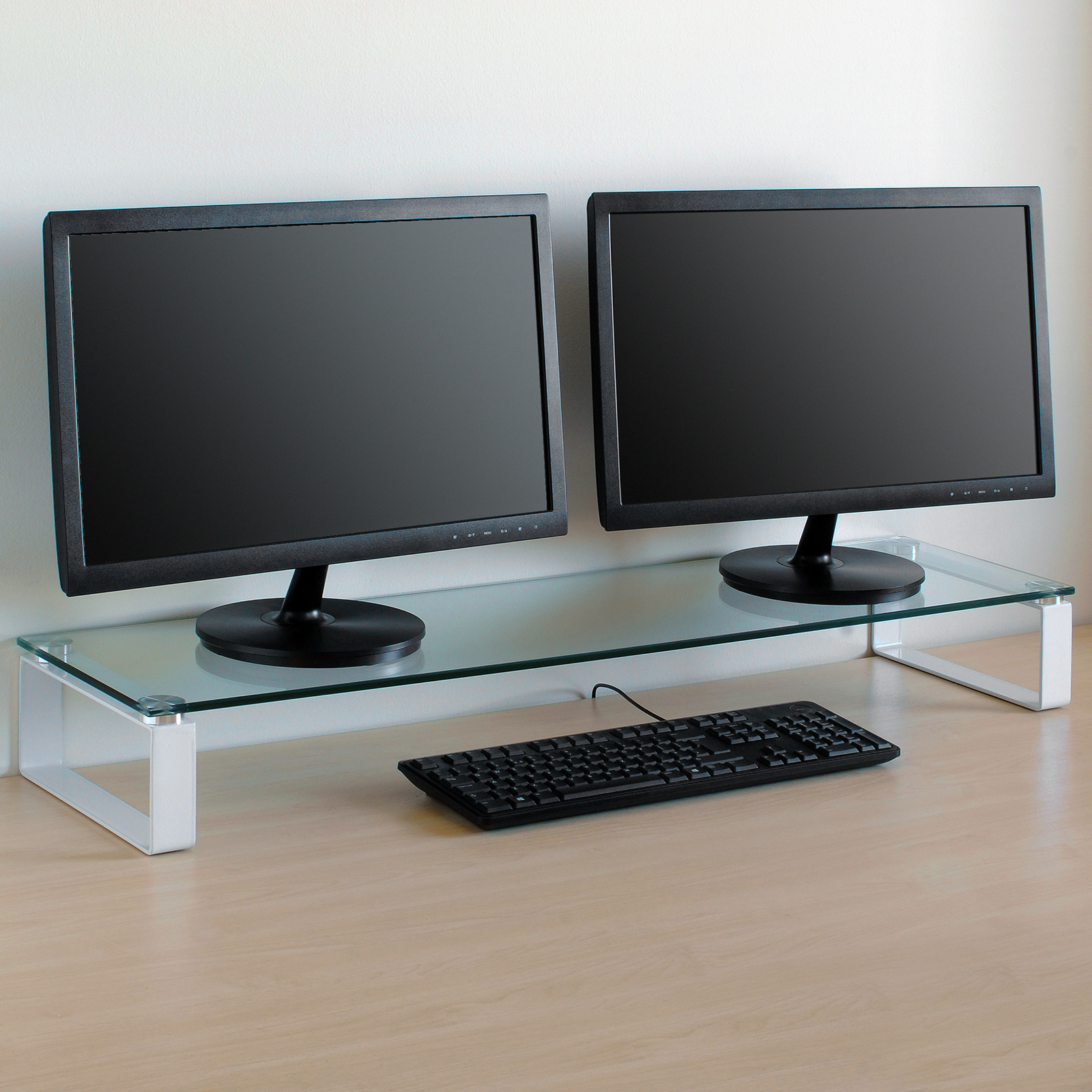 X Large Double Monitor Riser Stand Pc Imac Screen Tv