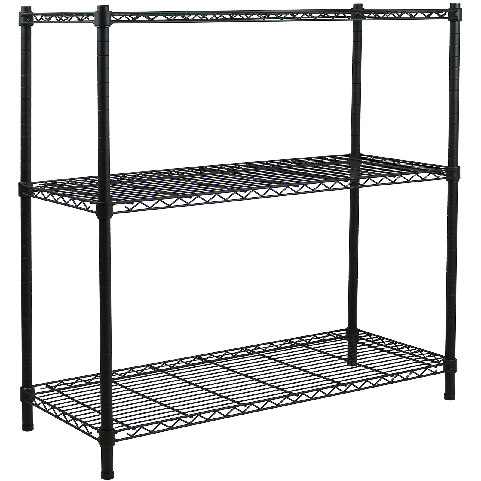 3 Tier Metal Storage Rack Shelving Book Shelf Kitchen