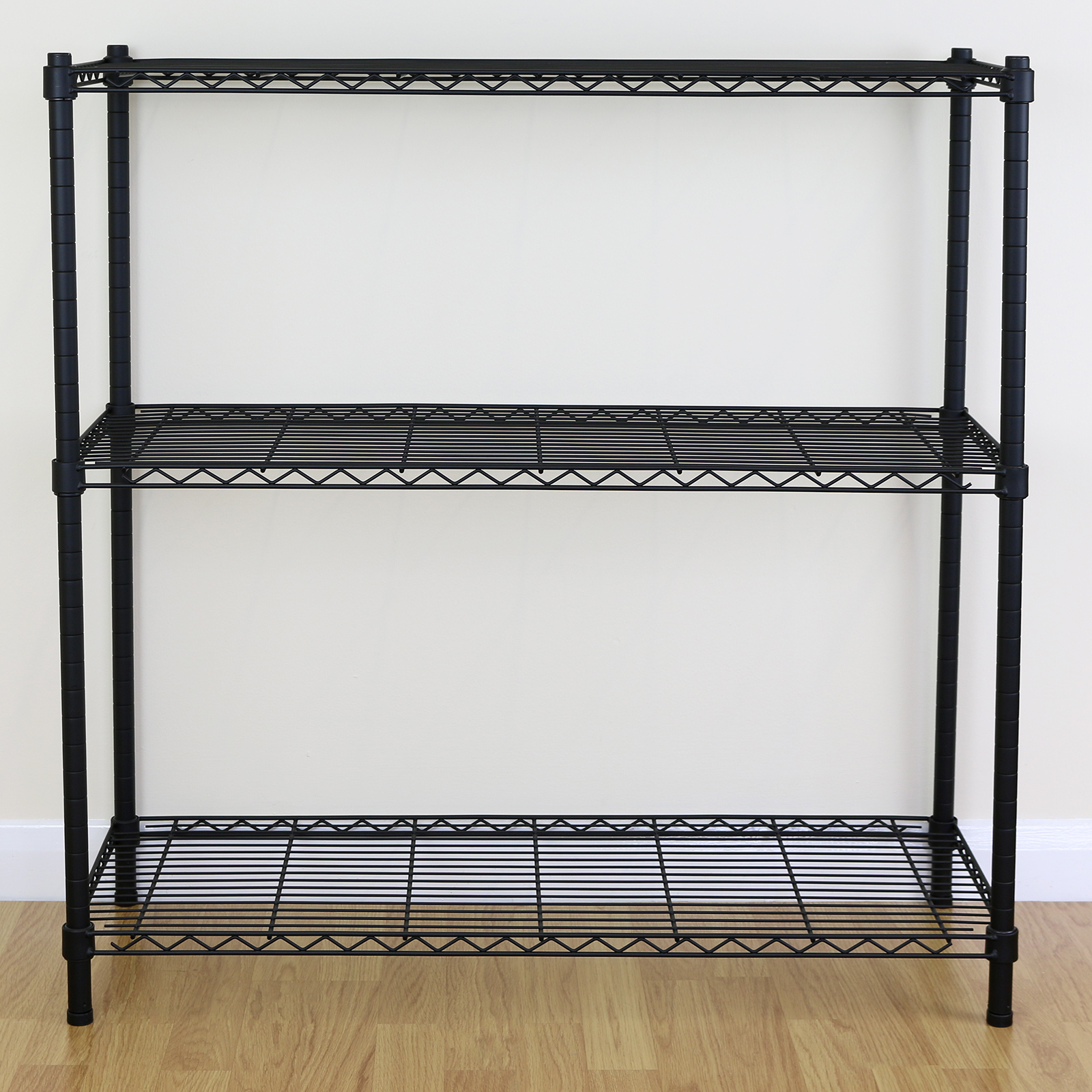 Kitchen Shelf Metal: 3 Tier Black Metal Storage Rack/Shelving Wire Shelf