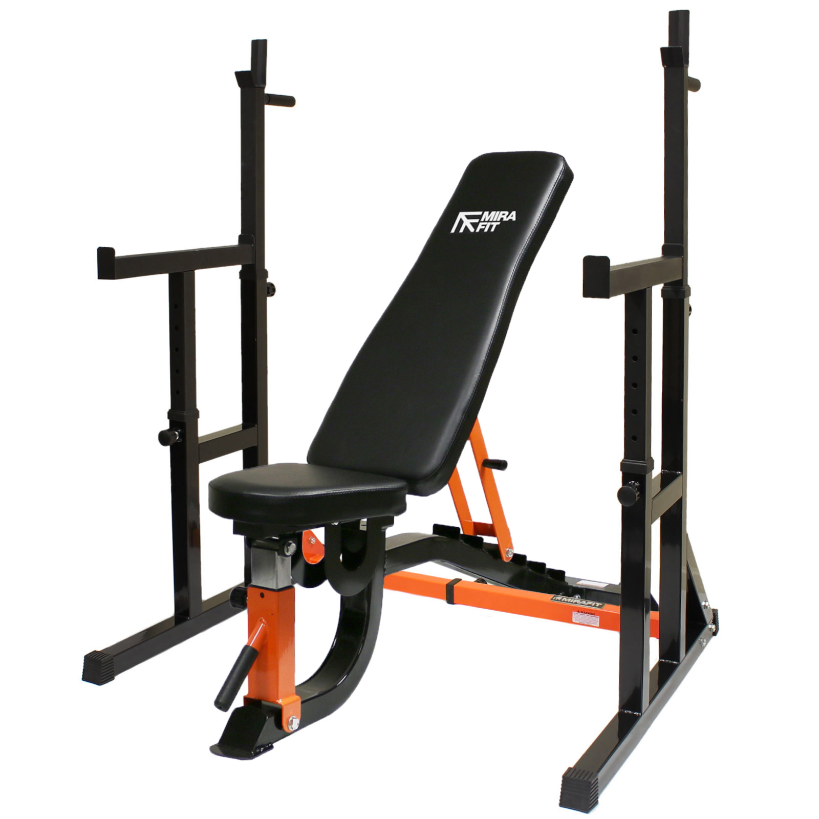 Mirafit hd adjustable fid weight bench squat rack dip for A squat rack