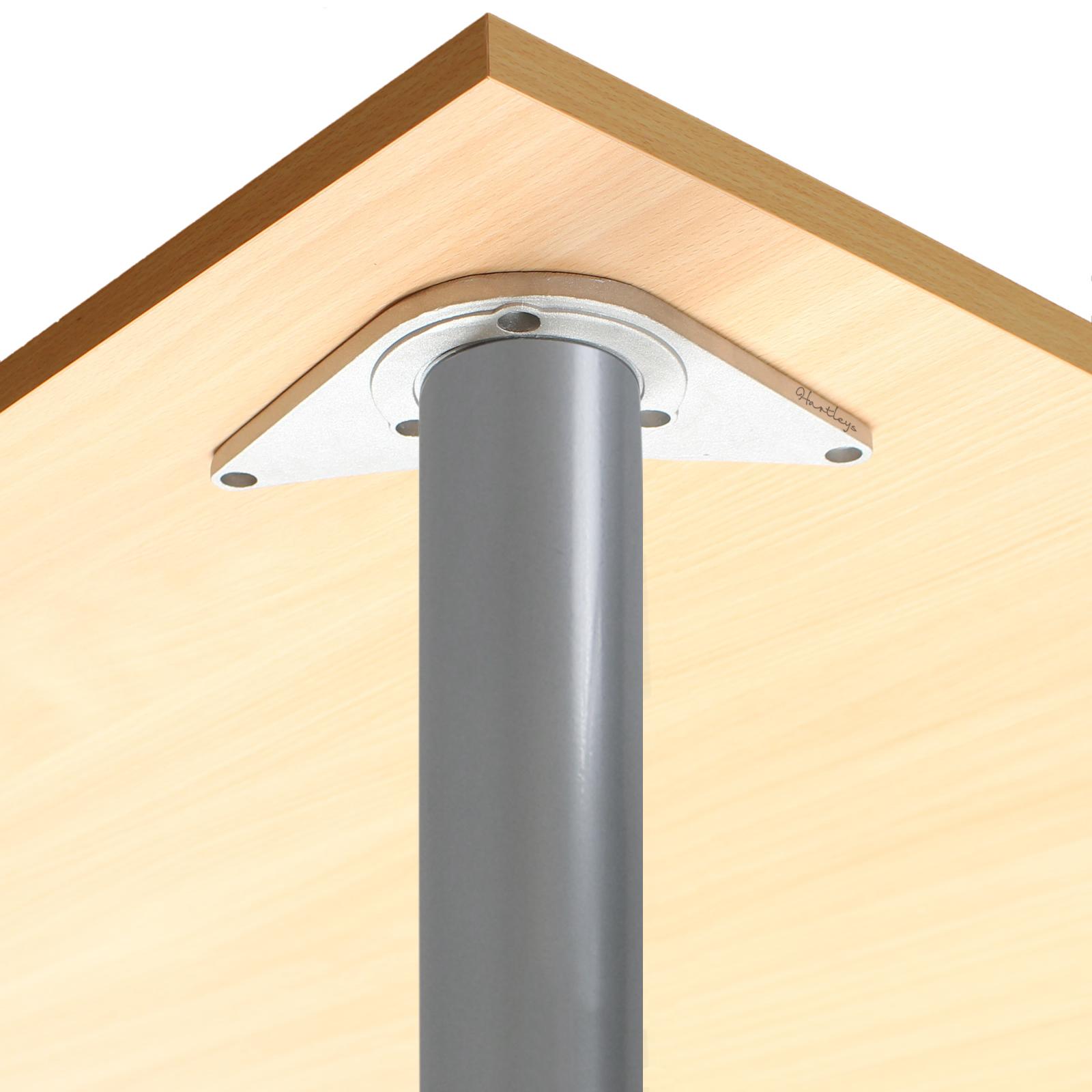silber 890mm tischbein k chenarbeitsplatte fr hst cksbar insel tischst nder ebay. Black Bedroom Furniture Sets. Home Design Ideas