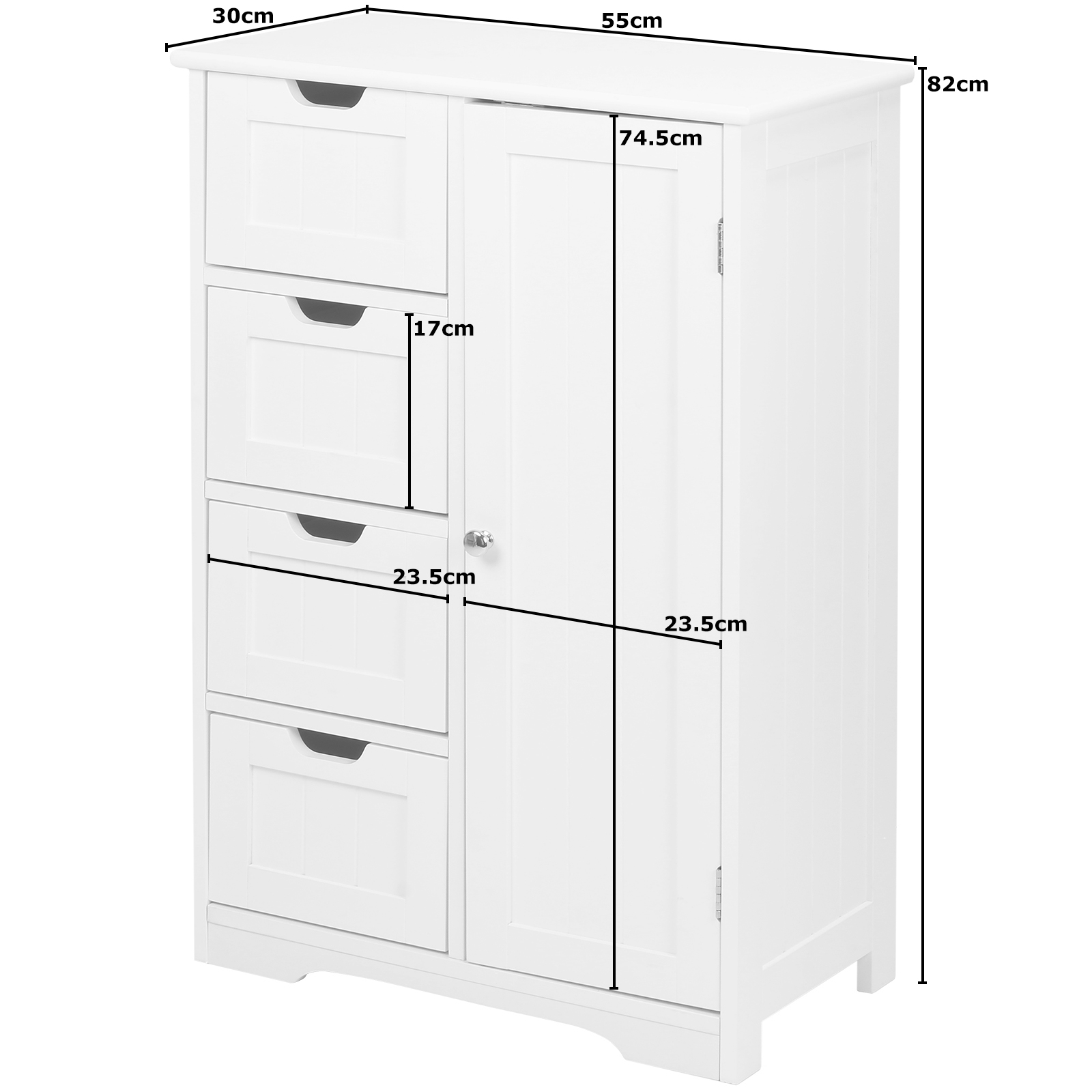 Hartleys white bathroom cupboard storage cabinet drawers - Bedroom storage cabinets with drawers ...