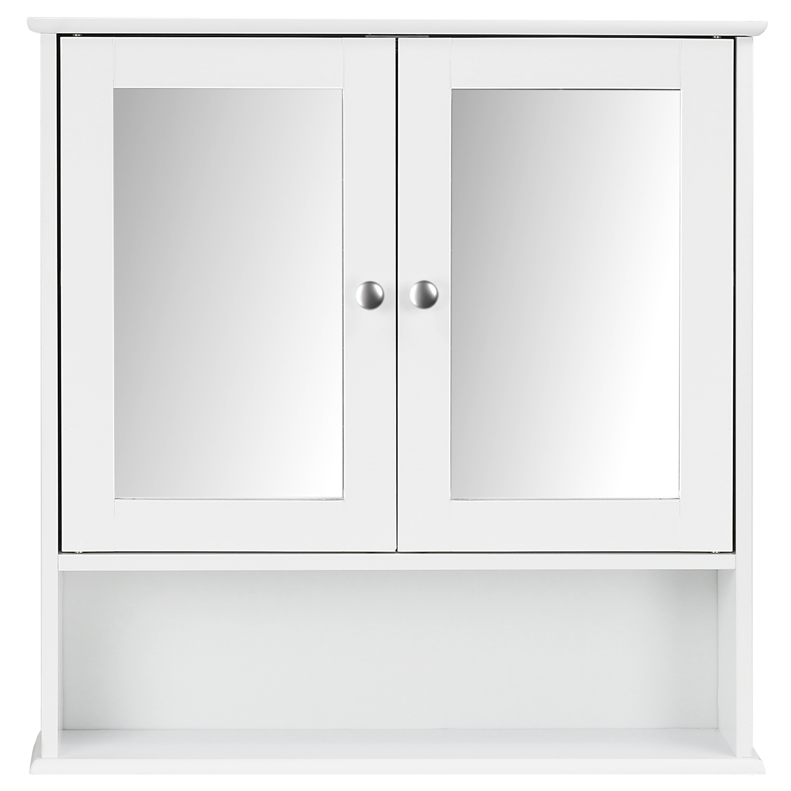 Hartleys White Bathroom Cabinet Wall Mount Mirror Unit