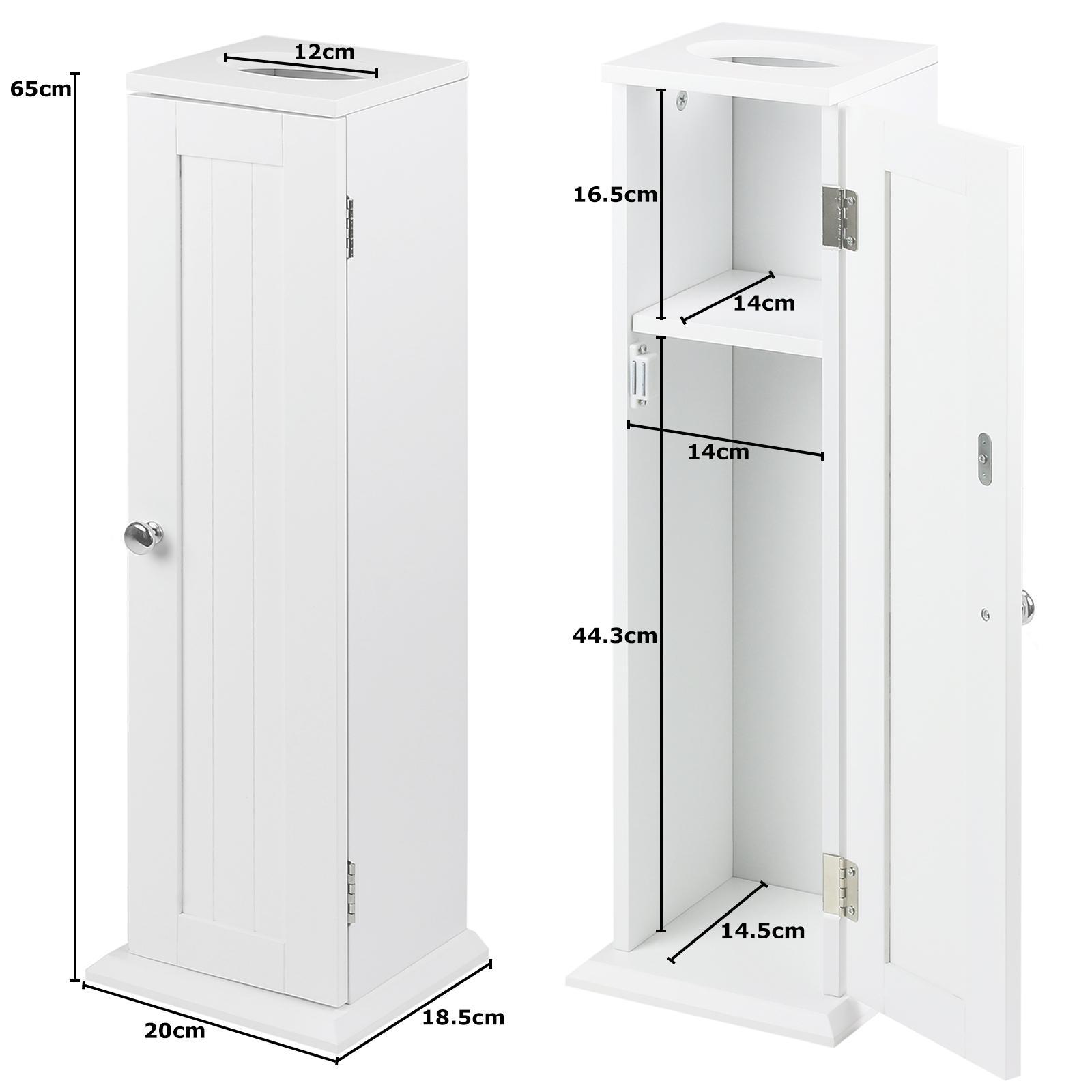 hartleys white bathroom storage unit toilet roll brush tissue holder cabinet ebay. Black Bedroom Furniture Sets. Home Design Ideas