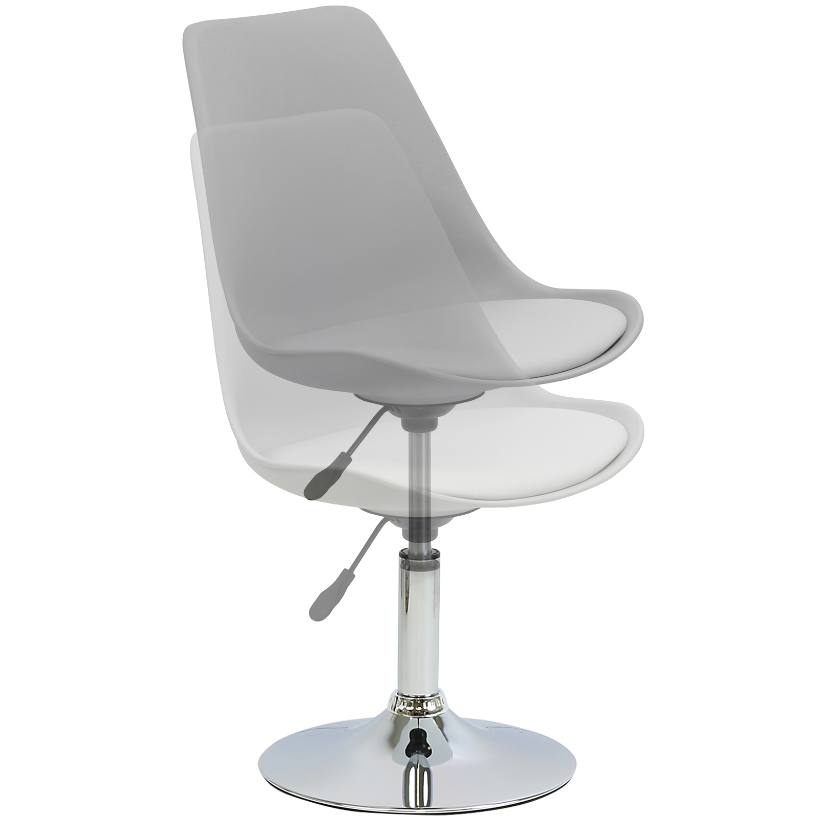 HARTLEYS GREY SEAT TULIP SWIVEL DESK RECEPTION DINING  : CHR031G from www.ebay.co.uk size 1600 x 1600 jpeg 404kB