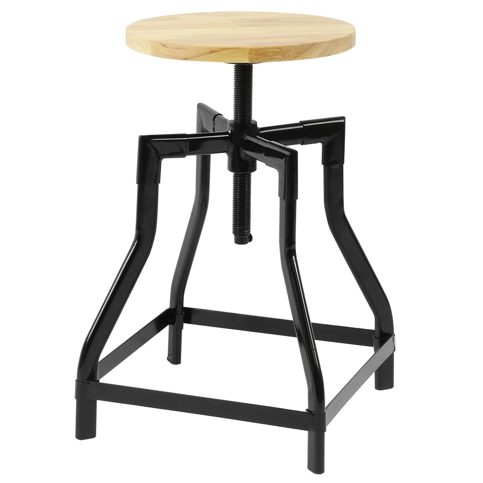 Hartleys low retro swivel screw bar table stool with for Bar stool table