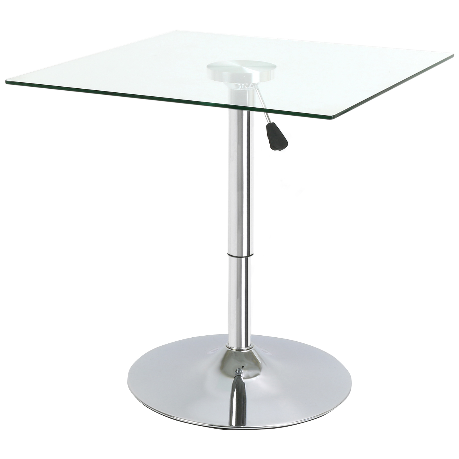 SQUARE ADJUSTABLE CLEAR GLASS BISTRODINING TABLE CAFE  : GLS117E from www.ebay.co.uk size 1600 x 1600 jpeg 393kB