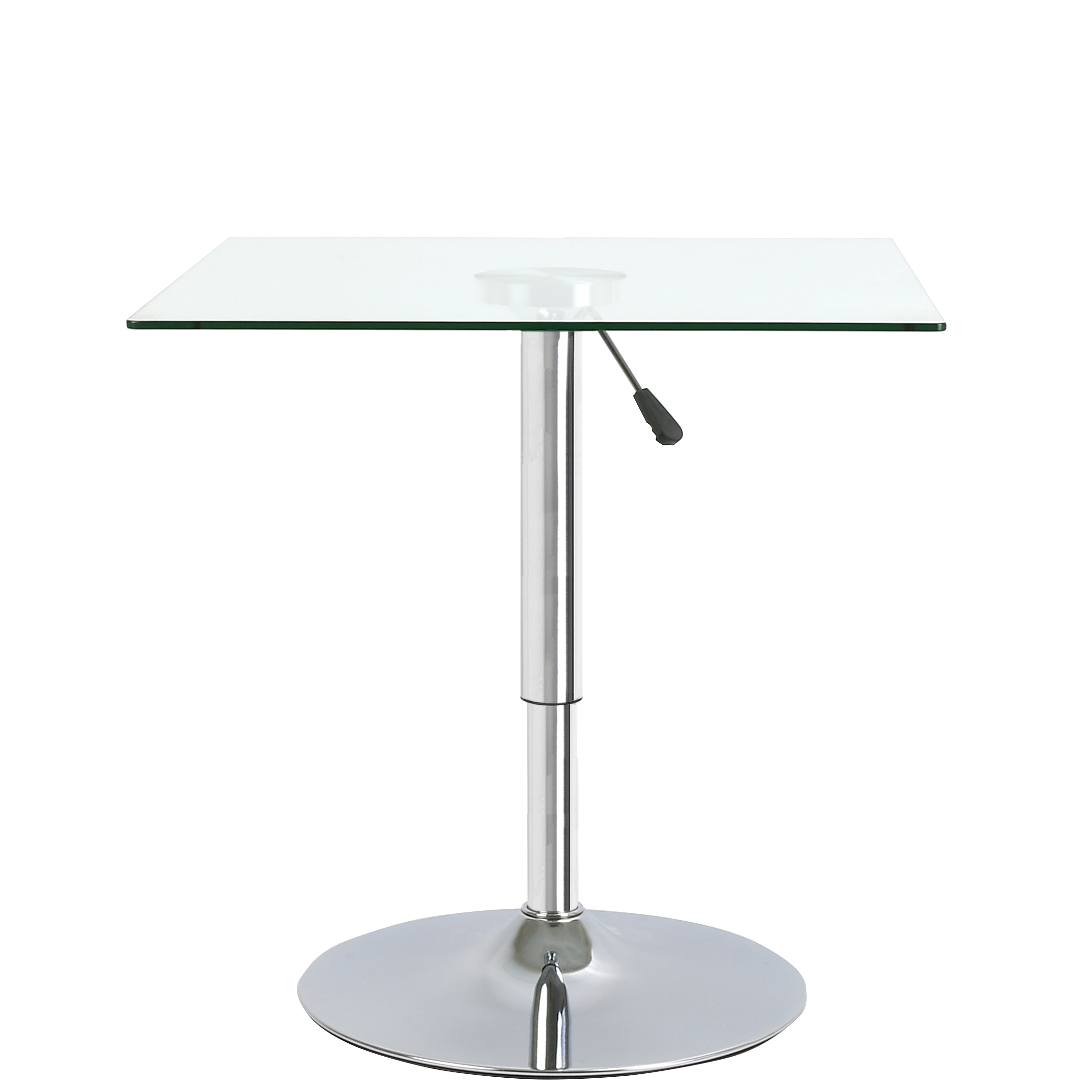 square adjustable clear glass bistro dining table cafe