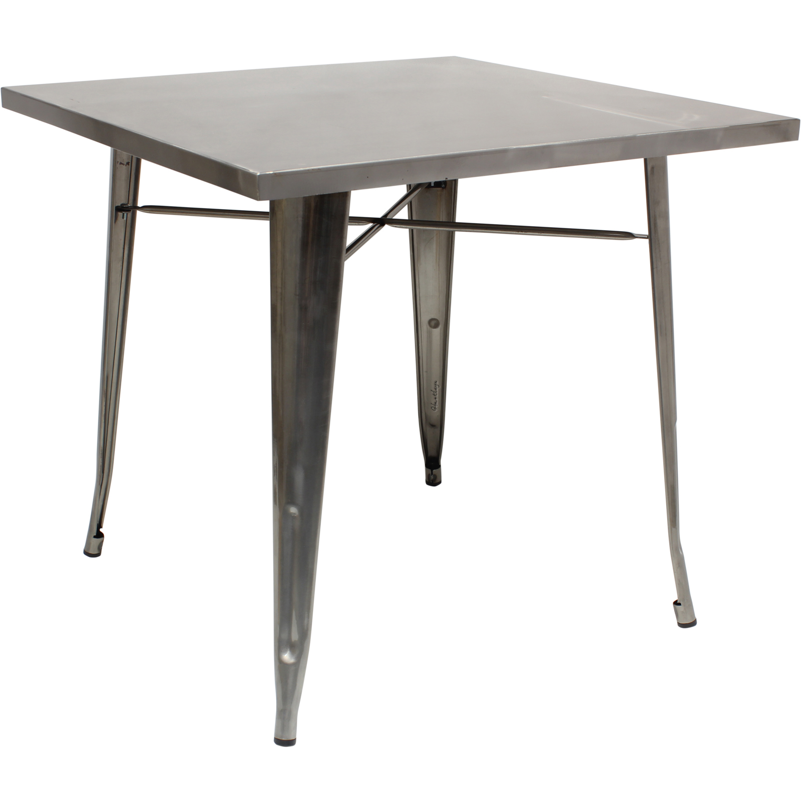 Hartleys large gunmetal square industrial metal table kitchen dining cafe bistro - Industrial kitchen tables ...
