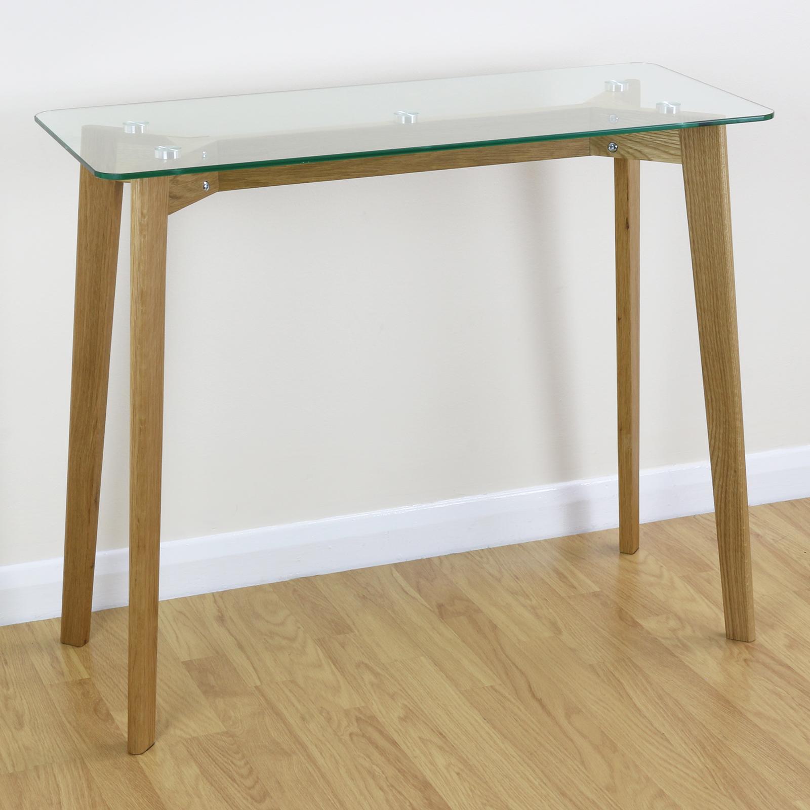 verre ch ne cadre console c t lampe de table t l phone couloir hall entr e ebay. Black Bedroom Furniture Sets. Home Design Ideas