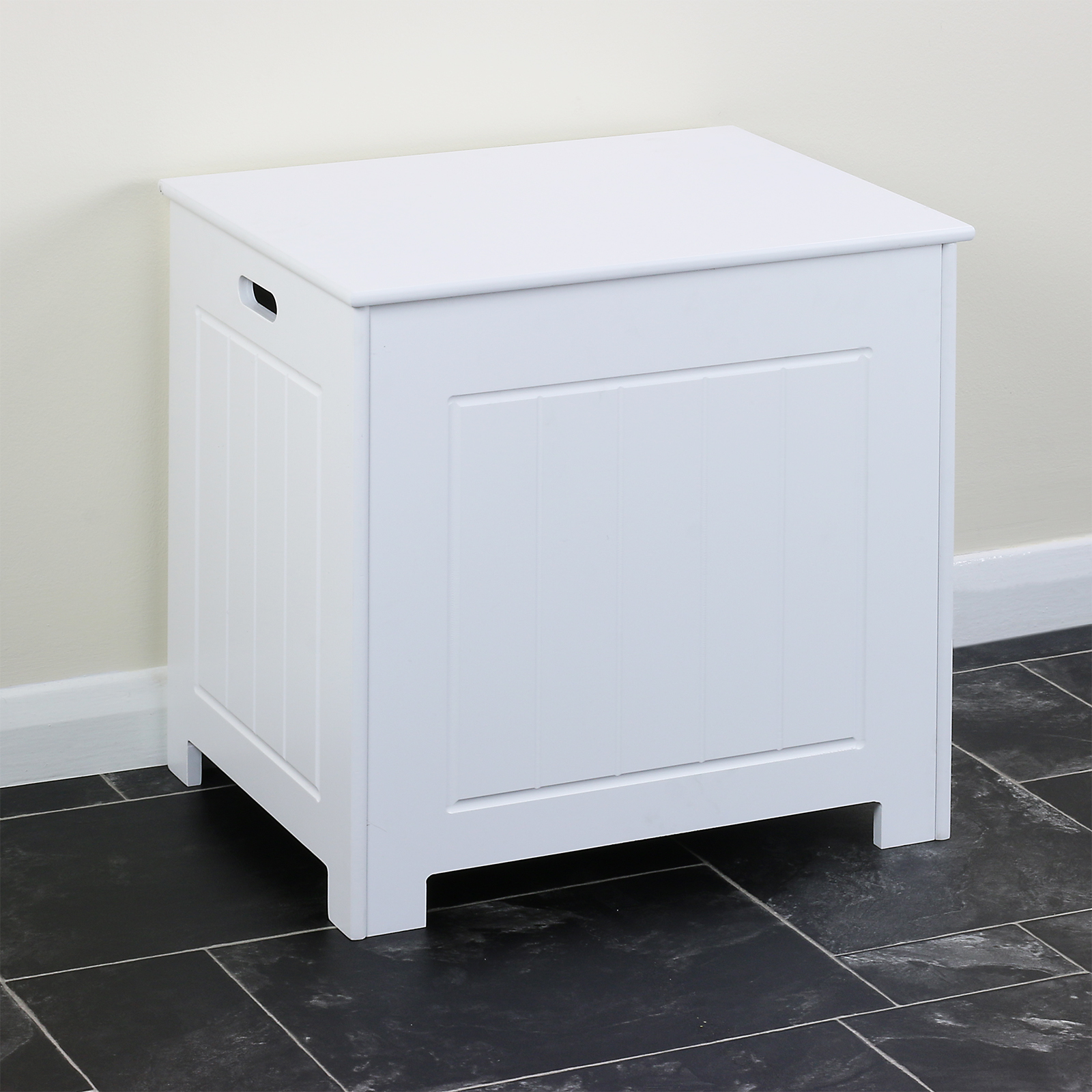 Modern white chest trunk for towel bedding clothes bag for Bathroom cabinets 40cm wide