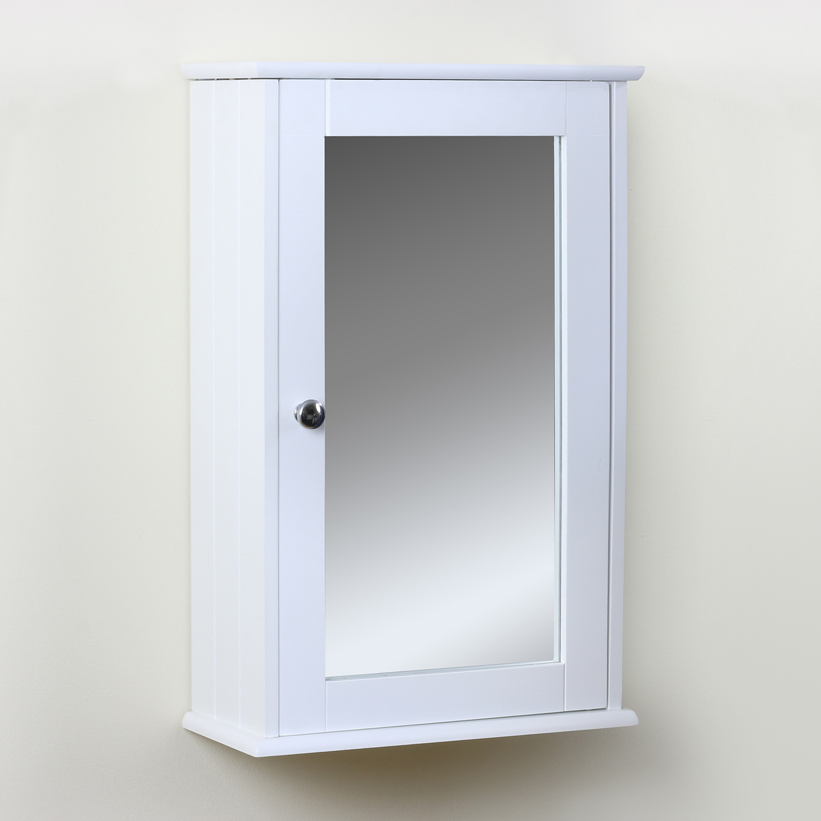 classic white bathroom cabinet mirrored cupboard wall