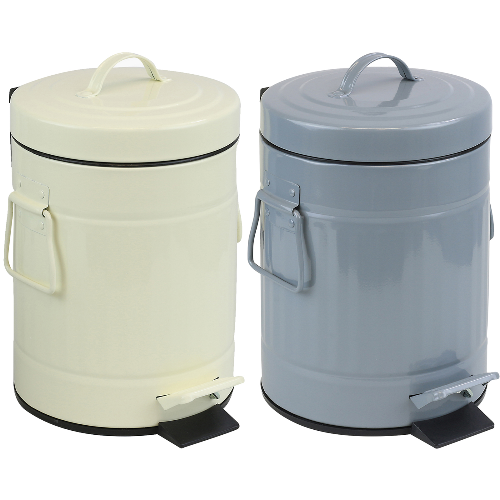 Small Bathroom Bin - Sentinel small metal pedal bin retro dustbin 3 litre bathroom toilet office waste rubbish