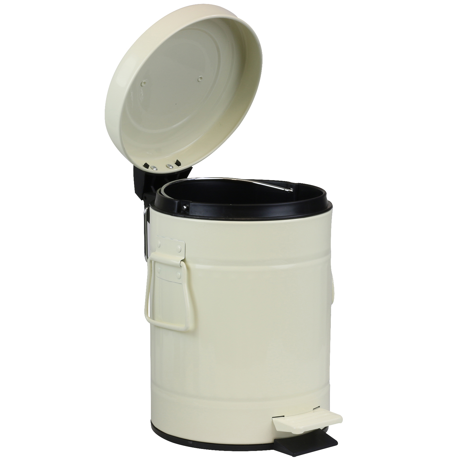 small metal pedal bin retro dustbin 3 litre bathroom toilet office waste rubbish ebay. Black Bedroom Furniture Sets. Home Design Ideas