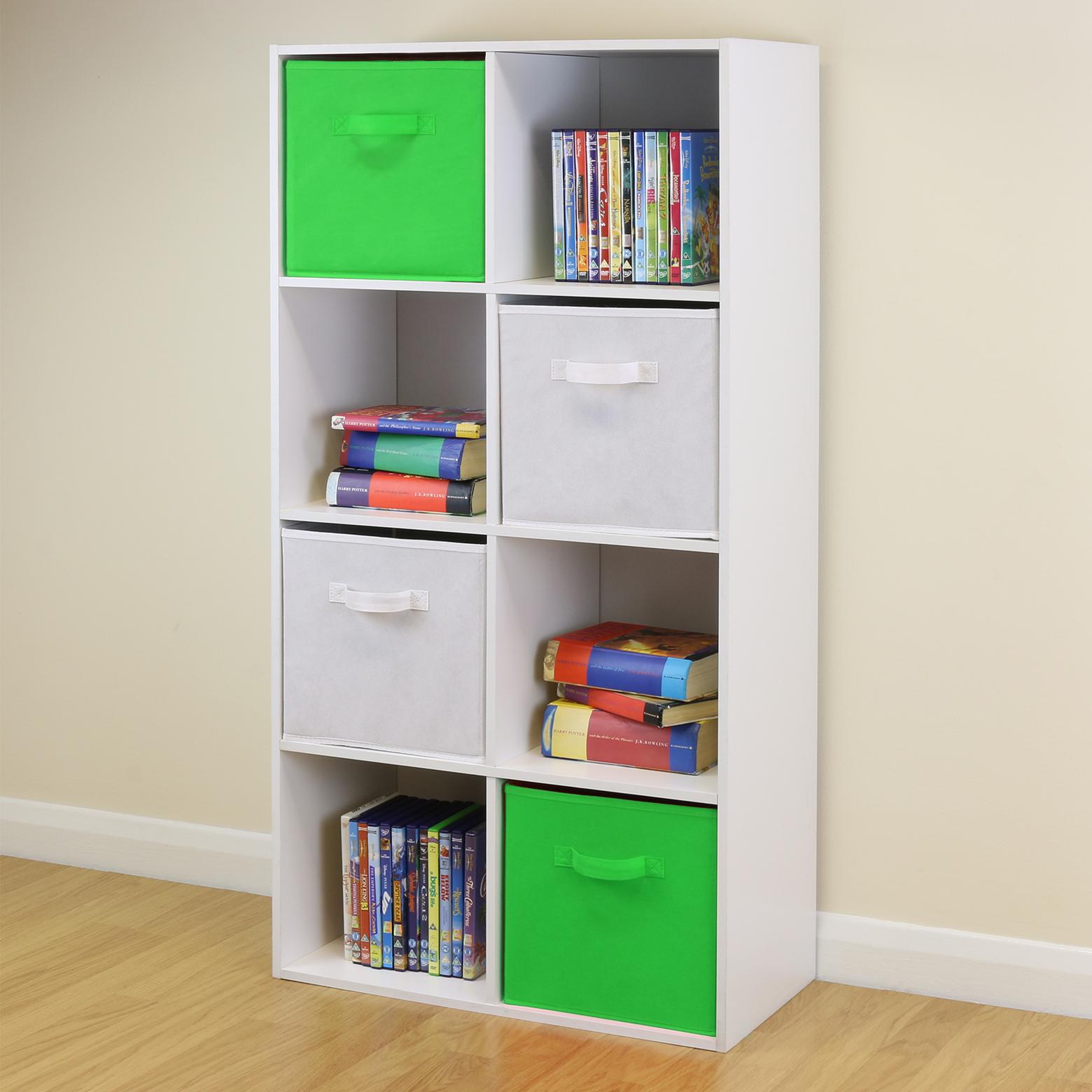 8 Cube Kids Green White Toy Games Storage Unit Girls Boys Bedroom Shelves Boxe Ebay