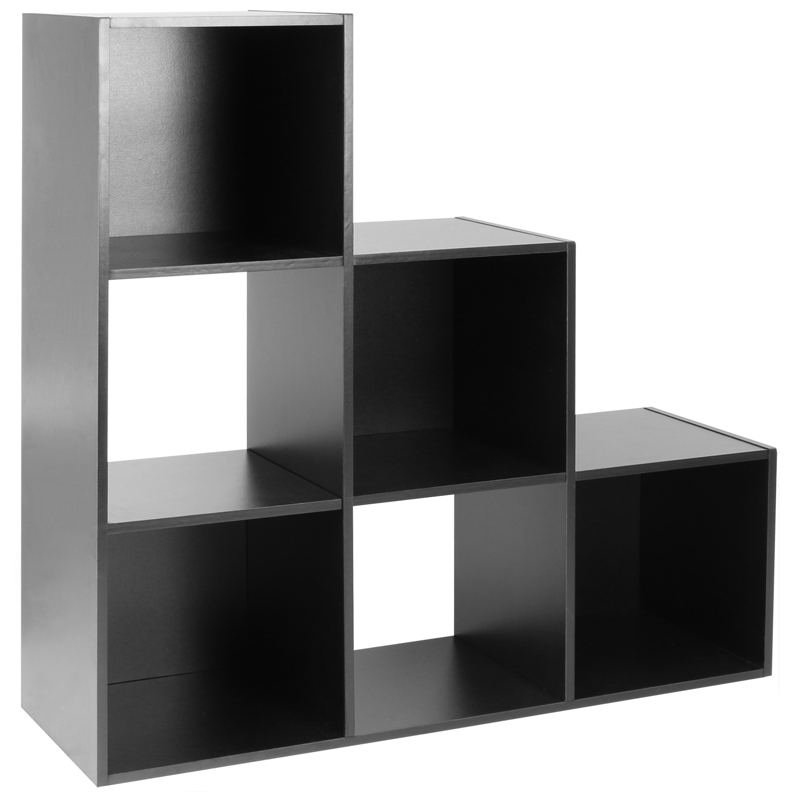 sale hartleys black 6 cube storage shelving 3 tier shelf. Black Bedroom Furniture Sets. Home Design Ideas