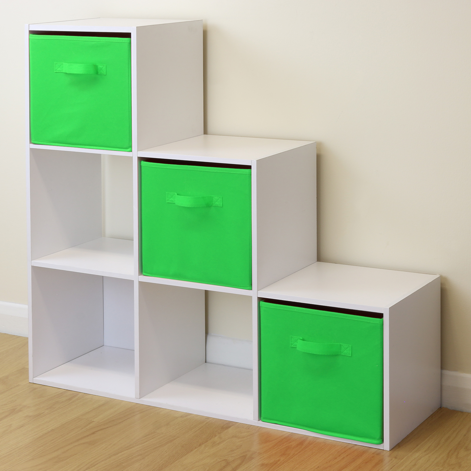 White 6 Cube Kids Toy Games Storage Unit Girls Boys
