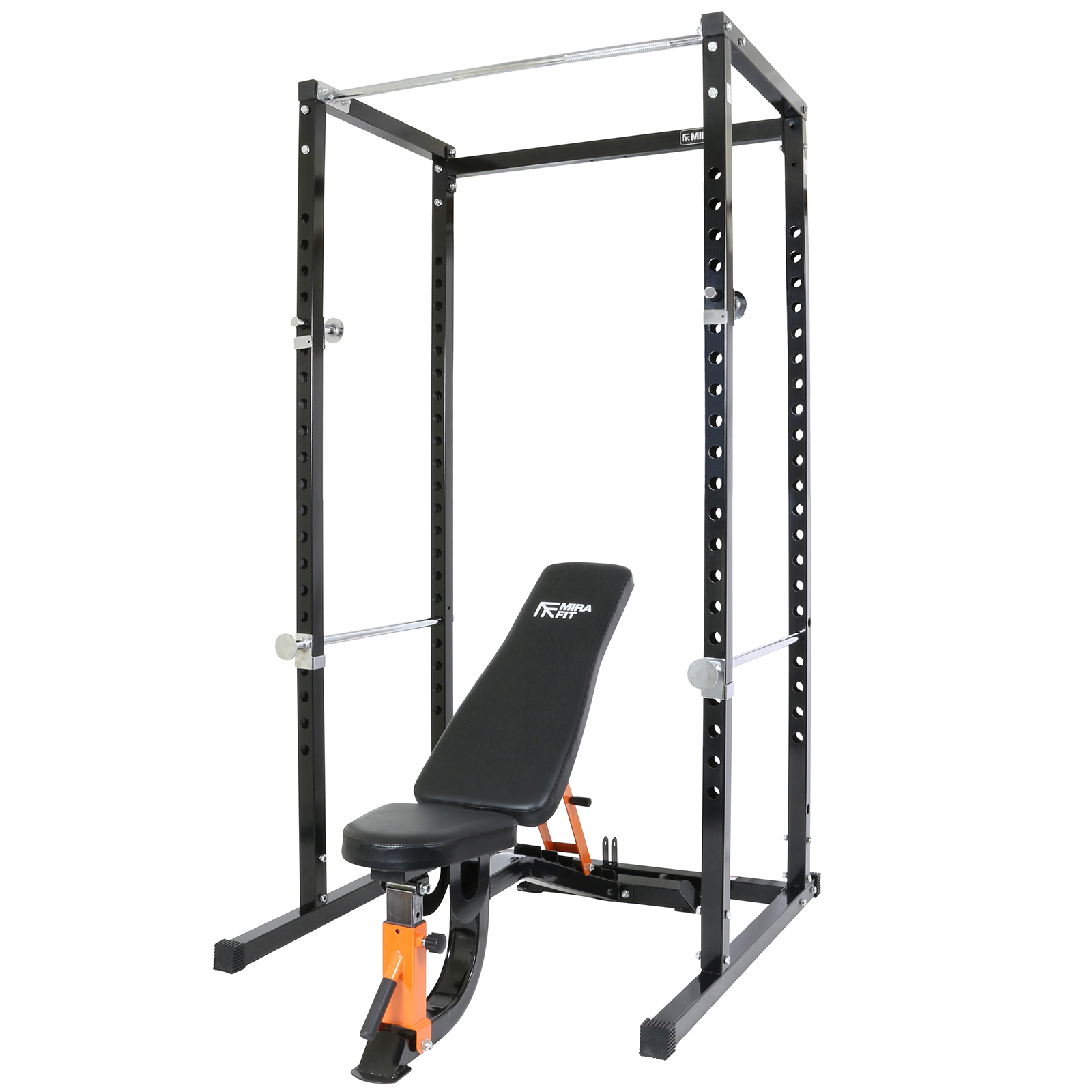 Mirafit Power Cage Squat Rack Pull Up Bar With Semi
