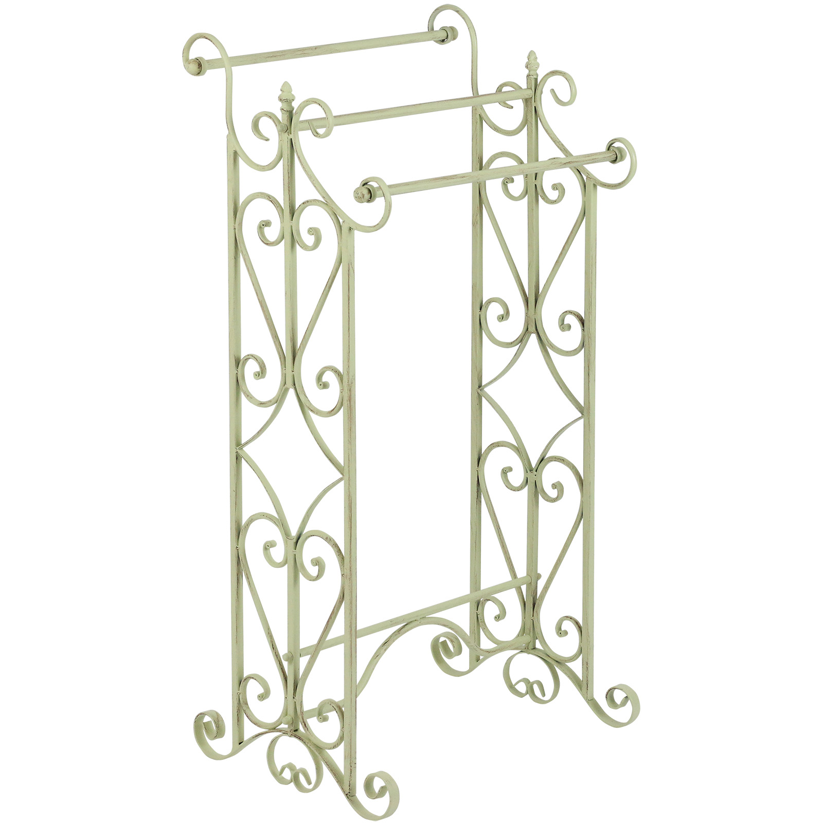 Hartleys free standing 3 tier french shabby chic bathroom for Shabby chic towel stand