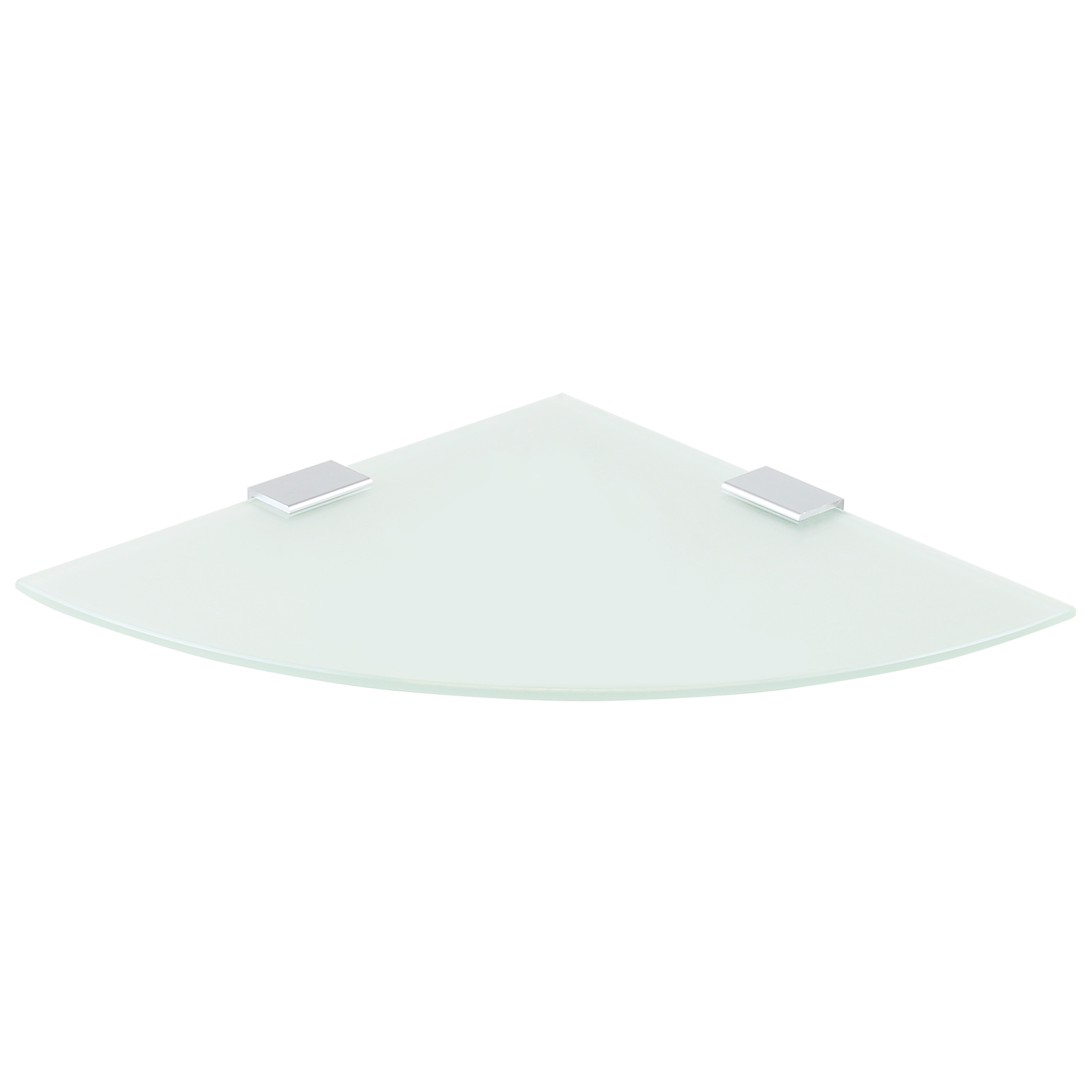 Hartleys small corner wall mounted glass floating shelf for Small glass wall shelf