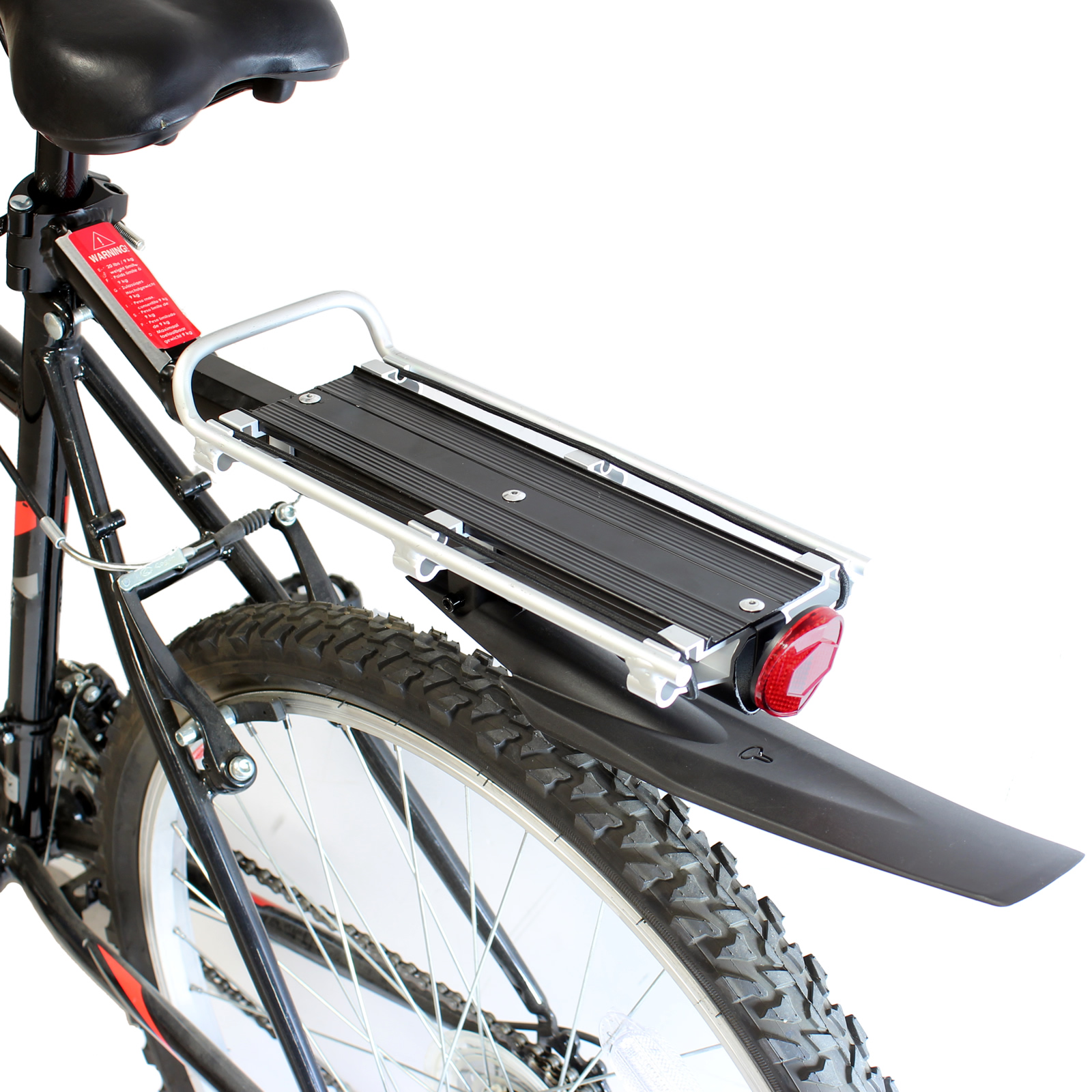 pedalpro fahrrad gep cktr ger mit schutzblech aluminium silber u schwarz ebay. Black Bedroom Furniture Sets. Home Design Ideas