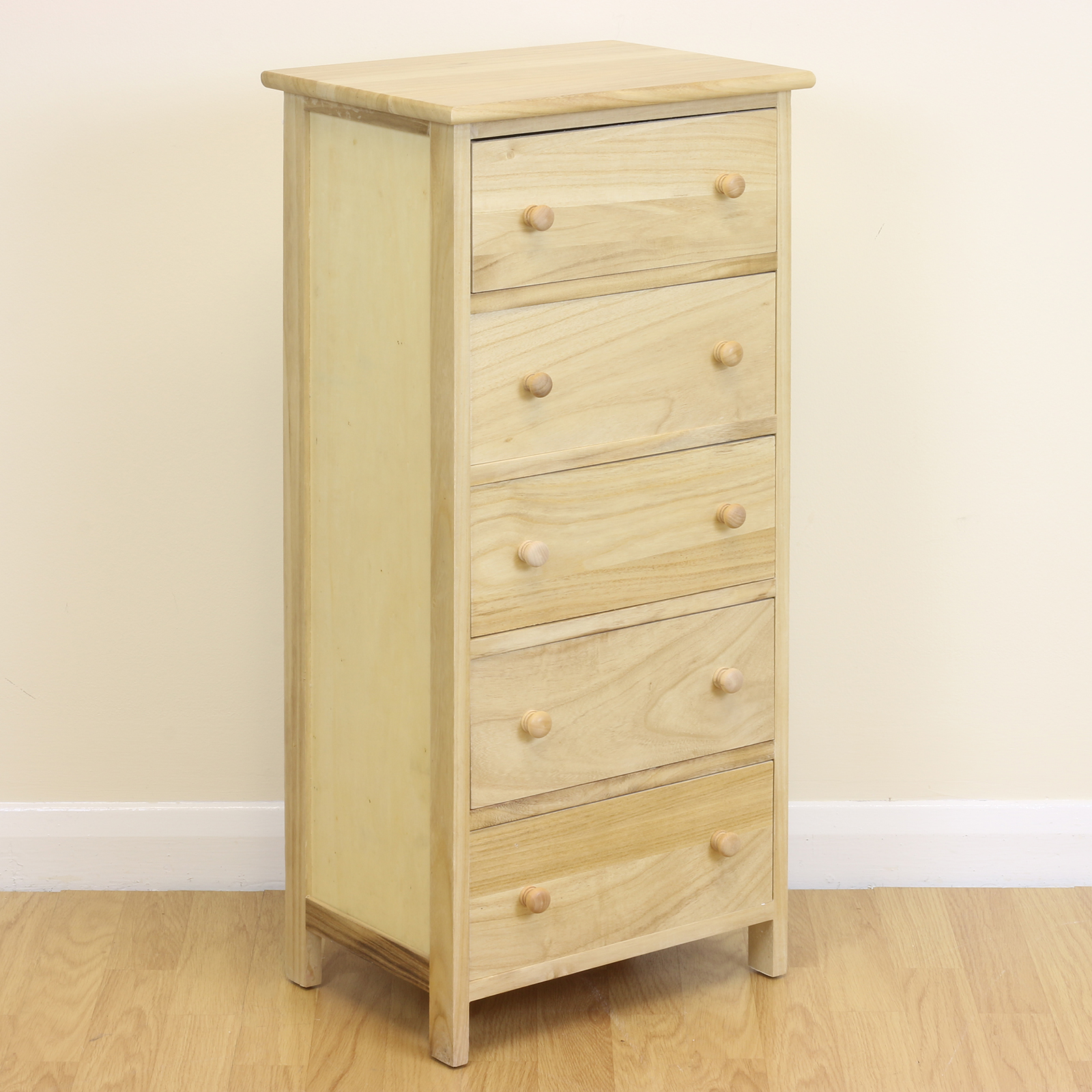 Wonderful image of Details about   Wooden 5 Chest Of Drawers Narrow Tallboy Bedroom  with #492B14 color and 1600x1600 pixels