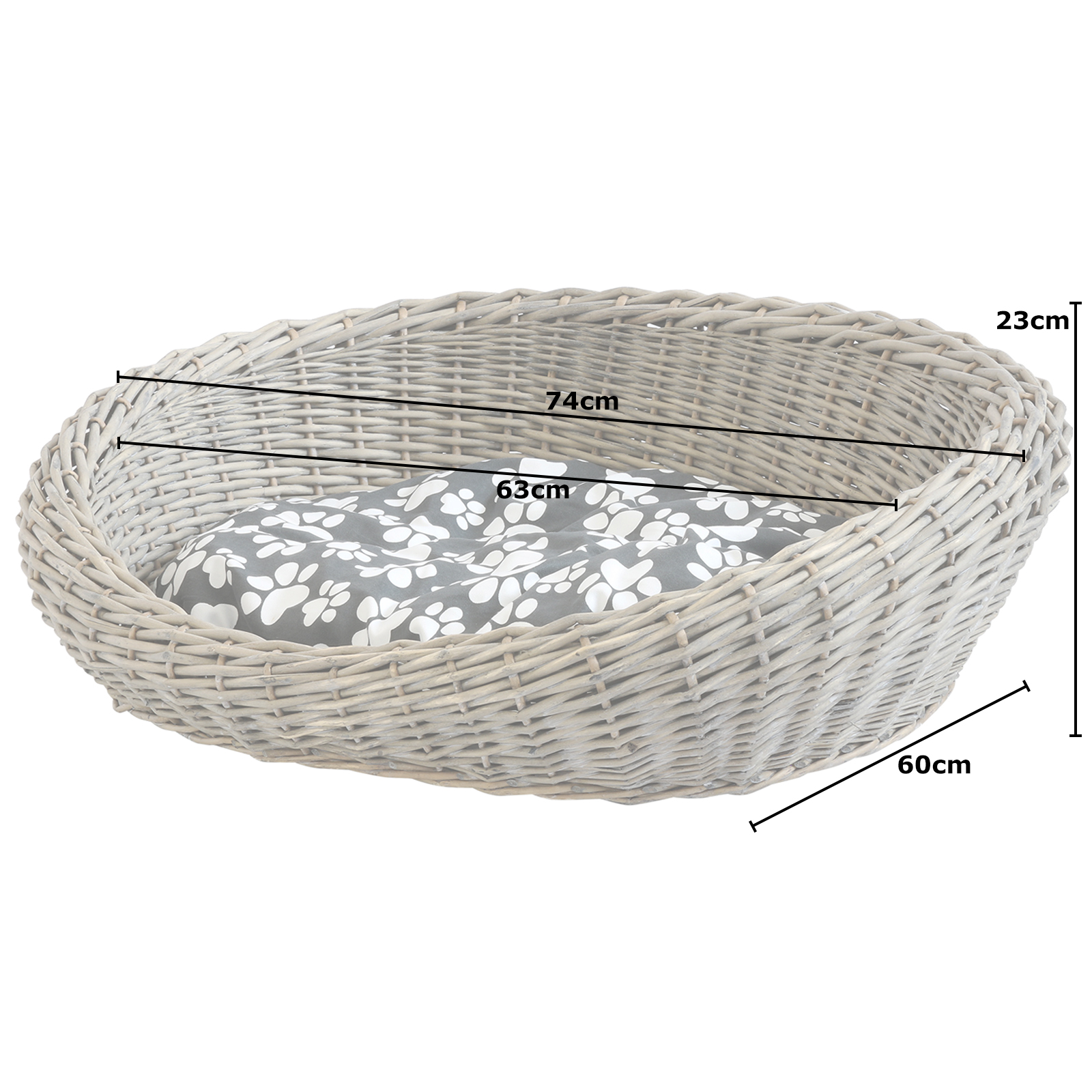 Me And My Pets Woven Dog Basket