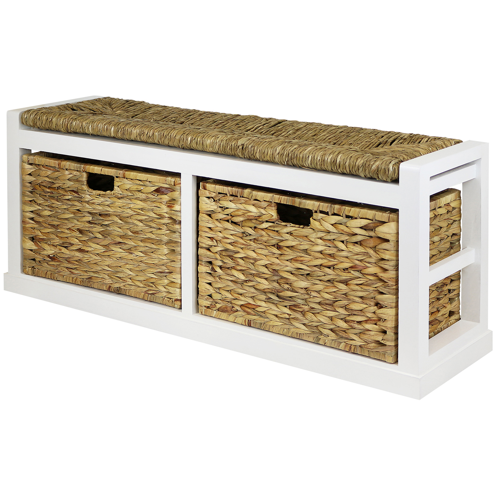 Sale Hartleys Wide 2 Drawer Bench Wicker Seat Cushion Basket Damaged 071 Ebay