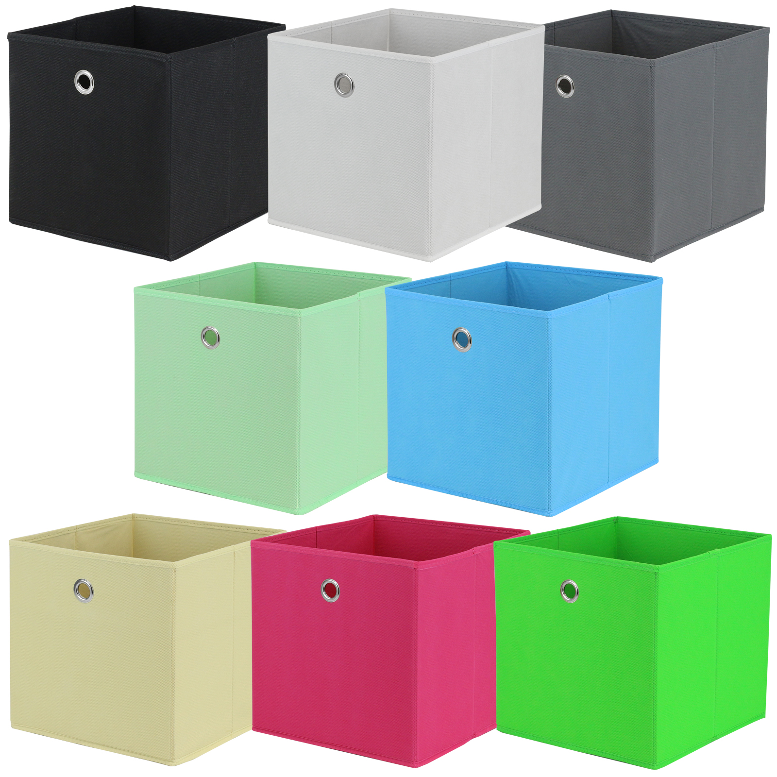 Sentinel HARTLEYS SQUARE FOLDABLE FABRIC/CANVAS STORAGE BOX CUBE SHELF/DRAWER  ORGANISER