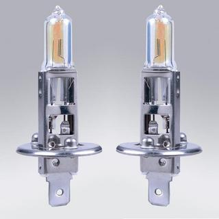 H1 12V 55W Rainbow Super Yellow Halogen Bulbs - Pair