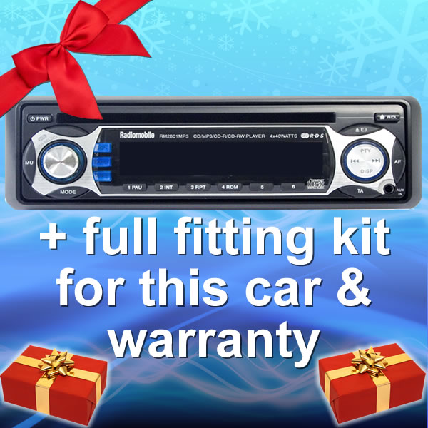 TOYOTA YARIS 99-03 CAR CD/MP3 TUNER RADIO + FITTING KIT Enlarged Preview