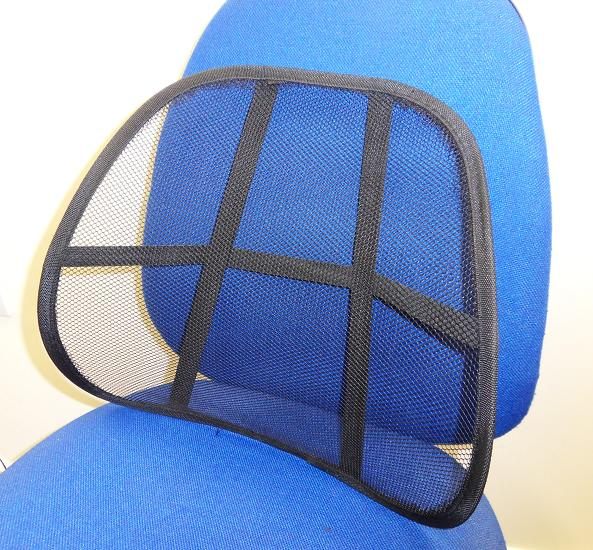 car seat chair cool vent mesh lower back rest cushion lumbar lumber support ebay. Black Bedroom Furniture Sets. Home Design Ideas