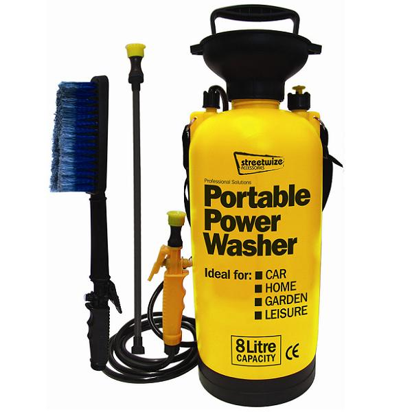 CAR VALETING CLEANING HAND PUMP PRESSURE WASHER/CLEANER/HOSE/BRUSH/PORTABLE NEW Enlarged Preview