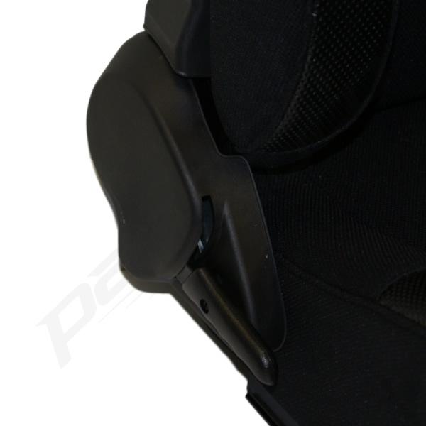 black reclining bucket car seats for classic rover austin mini ebay. Black Bedroom Furniture Sets. Home Design Ideas