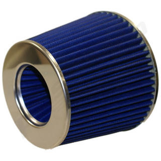 Blue Inverted Universal Car Air Filter & Fitting Kit