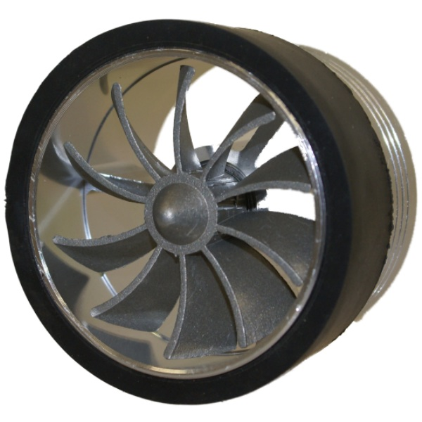 SILVER AIR FILTER/INTAKE TURBO FAN - SAVE FUEL/PETROL/DIESEL - INCREASE CAR MPG Enlarged Preview