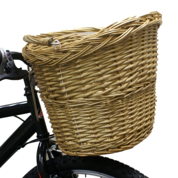 Wicker Bicycle Basket With Handle : Pedalpro bicycle bike cycle handlebar wicker ping