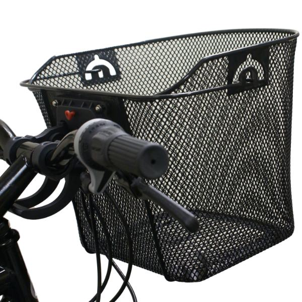 PEDALPRO BIKE/BICYCLE METAL MESH BASKET & QUICK RELEASE BRACKET SHOPPING HANDLE Enlarged Preview