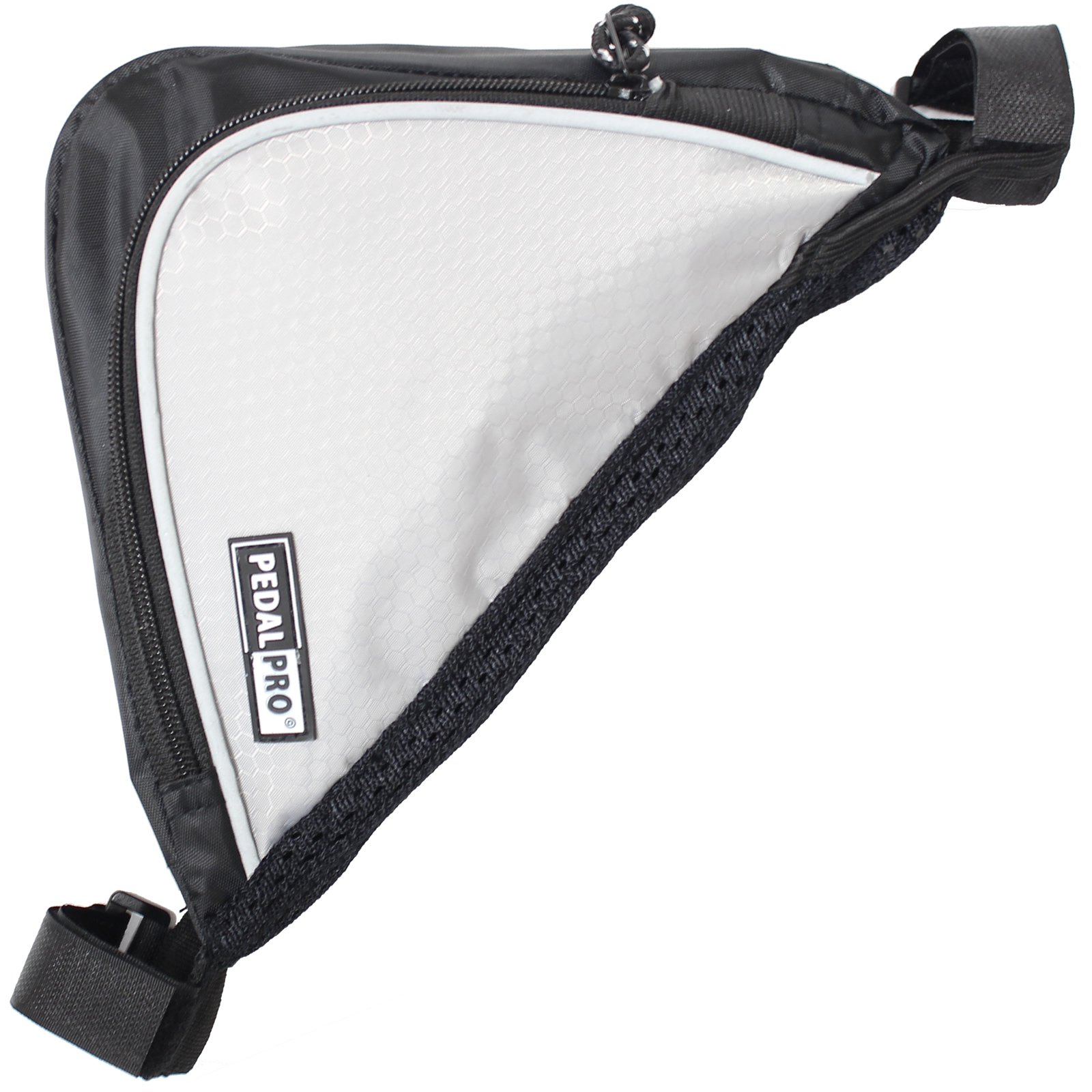PEDALPRO BICYCLE/BIKE/CYCLE FRAME DOUBLE POCKET REFLECTIVE TRIANGLE CORNER BAG Enlarged Preview