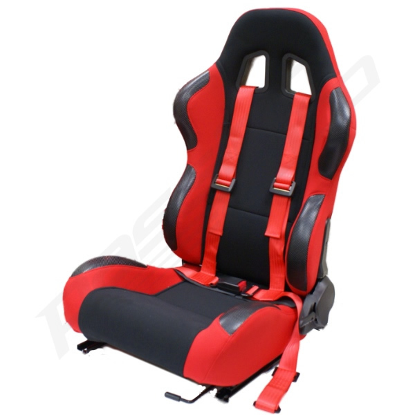 4 Point Racing Bucket Seat With Harness on honda crx harness bar