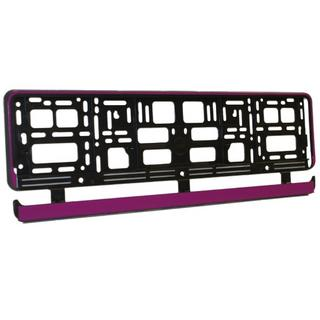 Pink Gloss Plastic Car Number Plate Surround