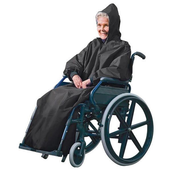 FULL BODY COMFY WHEELCHAIR MOBILITY MAC/COVERALL/PONCHO/JACKET/CAPE/COAT RAIN Enlarged Preview