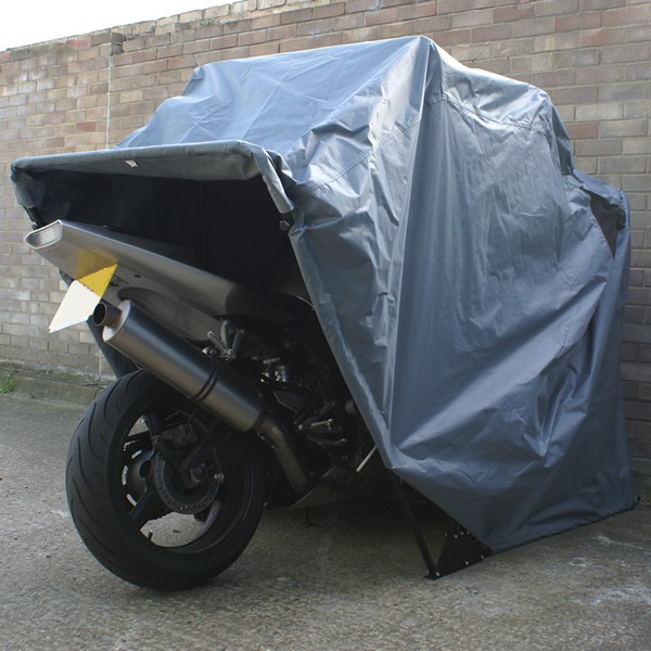LARGE TOURER MOTORBIKE FOLDING OUTDOOR COVER/TENT/SHED/GARAGE/BARN MOTORCYCLE Enlarged Preview
