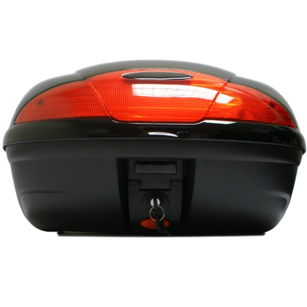 TAKE COVER 51L BLACK MOTORCYCLE  BACK BOX/TOPBOX LUGGAGE STORAGE MOTORBIKE/BIKE Enlarged Preview