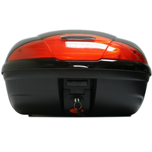 TAKE COVER 51L BLACK MOTORCYCLE  BACK BOX/TOPBOX LUGGAGE STORAGE MOTORBIKE/BIKE Enlarged Preview