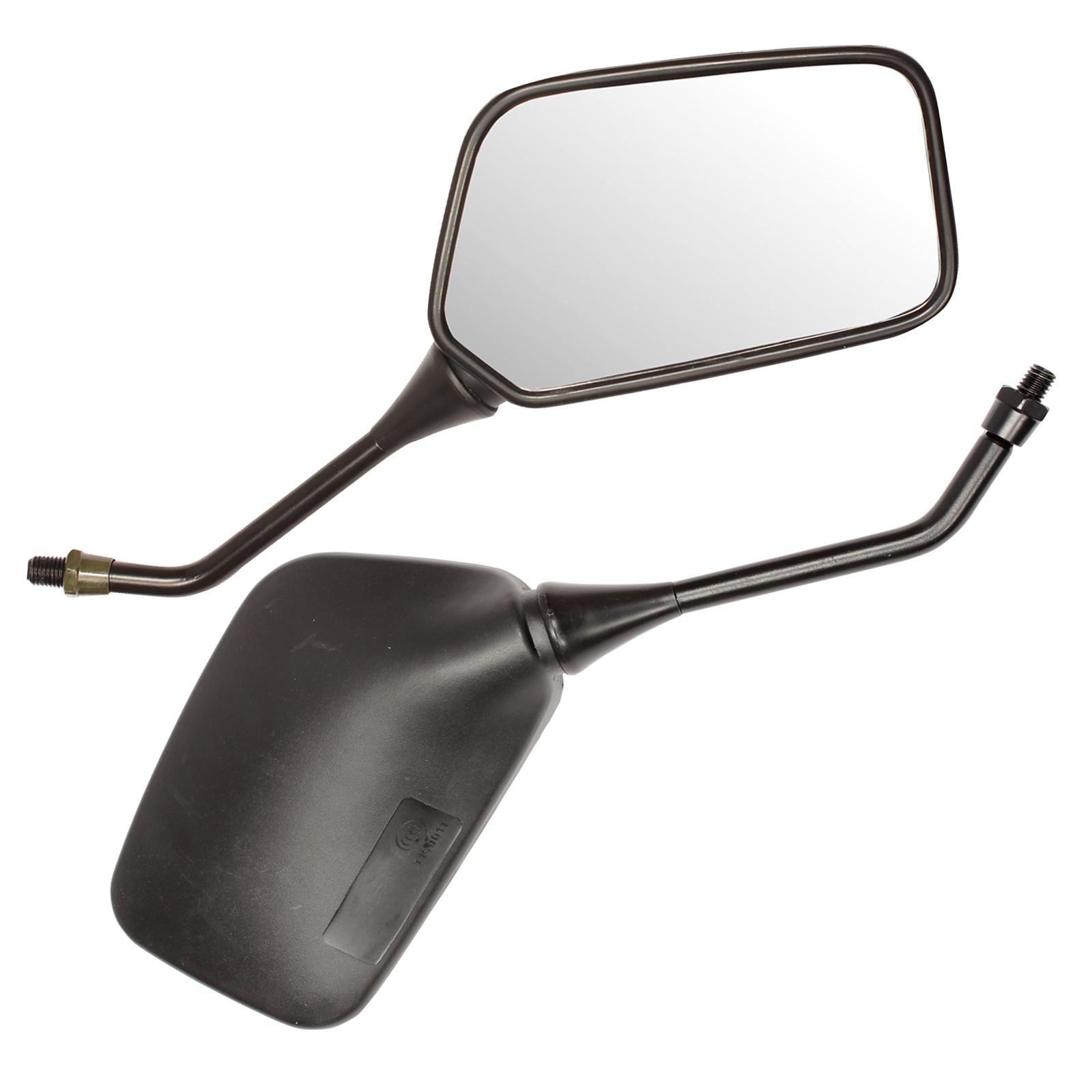 Ryde 10mm Black Universal Motorcycle Mirrors Bike