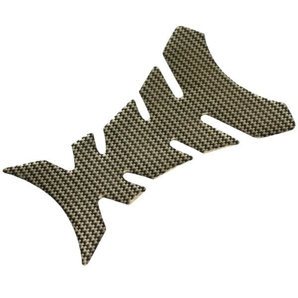 CARBON FIBRE EFFECT MOTORBIKE TANK PROTECTOR PAD FOR MOTORCYCLE PETROL/FUEL TANK Enlarged Preview
